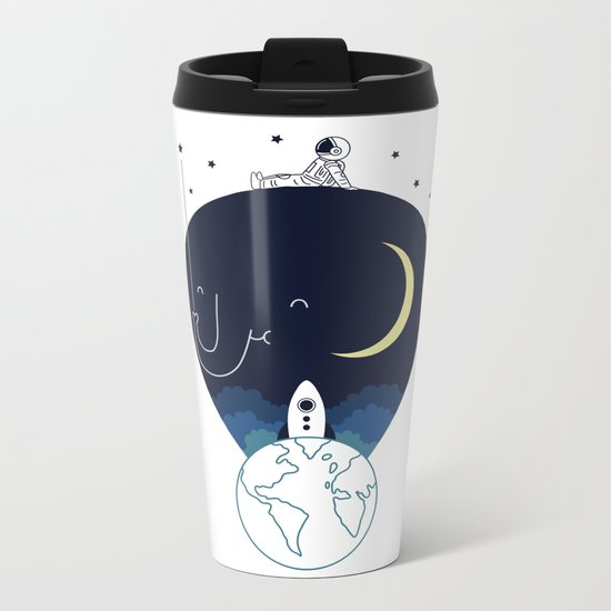 Imagine and Explore Metal Travel Mug