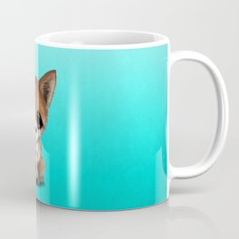 Cute Baby Fox With Football Soccer Ball Coffee Mug
