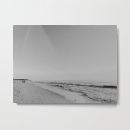 HALF MOON BAY III (B+W) Metal Print