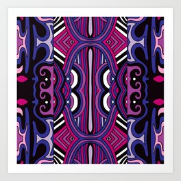 Pattern 7 from NUVEAU: The Future of Patterns Coloring Book Art Print