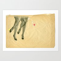 legs Art Prints featuring Legs by Cut and Paste