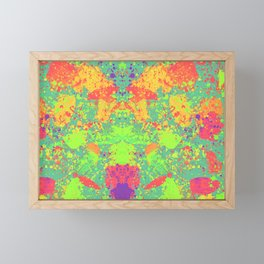 Vibrant colorful paint Framed Mini Art Print