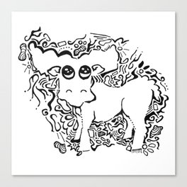 Moose Lineart Canvas Print