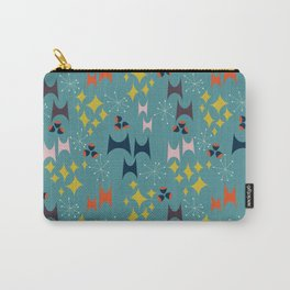 Deviled Starbursts Teal Carry-All Pouch