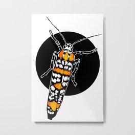 Ailanthus Webworm Moth (Atteva aurea) | BUGSPOTTING SERIES Metal Print