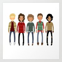 cargline Art Prints featuring Christmas Sweaters by cargline