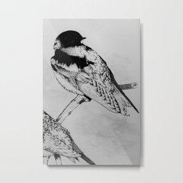 the stippled swallow Metal Print
