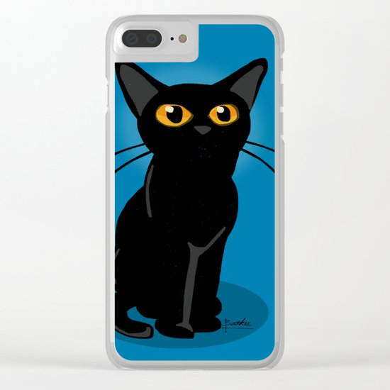 Looking at something Clear iPhone Case