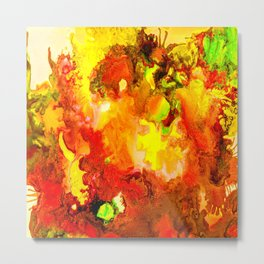 Autumnal Abstract Metal Print
