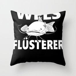 Fisherman Funny Catfish Whisperer Fishing Throw Pillow