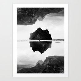 Black and White Isolation Island Art Print