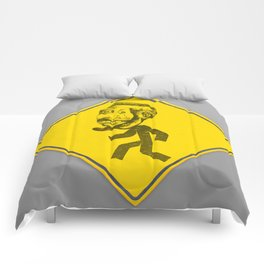 Mask man crossing Comforters
