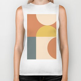 Abstract Geometric 04 Biker Tank