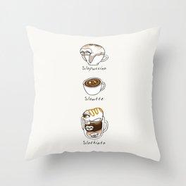 Slow Life Coffee Throw Pillow