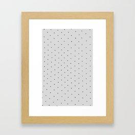 Gray Polka Dot Framed Art Print