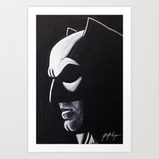 DARK HERO WATCHING Art Print