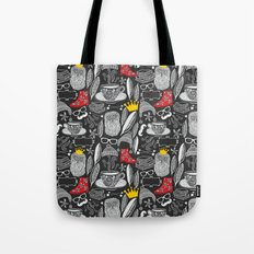 White on black. Tote Bag