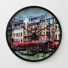 Venice Post Card Wall Clock