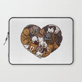 Heart Full Of Cats | Cat Lover Kittens Purr Laptop Sleeve