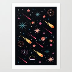 Fly Through Space Art Print