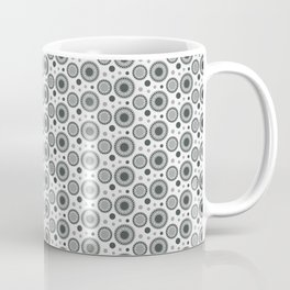 PPG Night Watch Pewter Green Polka Dots and Circles Pattern on White Coffee Mug