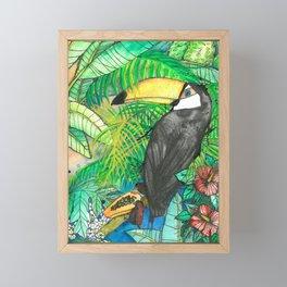 Toucan with mamão, Viva la Vida Framed Mini Art Print