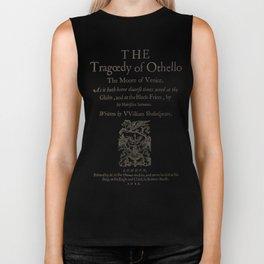 Shakespeare. Othello, 1622. Biker Tank