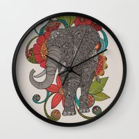 ruby Wall Clocks featuring Ruby by Valentina Harper