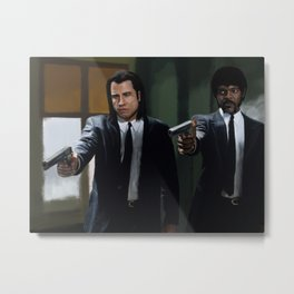 Badass Suits Metal Print