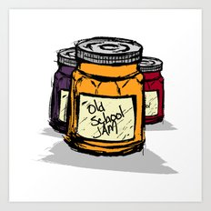 Old School Jams Art Print