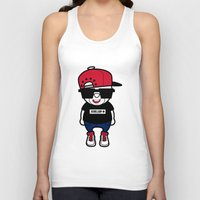 hiphop Tank Tops featuring 30Billion - Hiphop Bear 01 by 30Billion