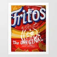 Art Print featuring Fritos by Raheem Nelson