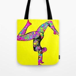Baha Hand Stand Yellow Tote Bag