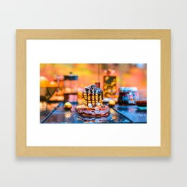 Chocolate Smores Pancakes at a Cabin Framed Art Print