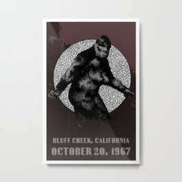 BIGFOOT, Bluff Creek 1967 Metal Print