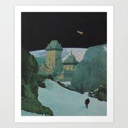 man on the moon pt.2 Art Print