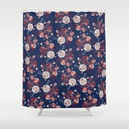 Ajisai / Hydrangea (紫陽花) Shower Curtain