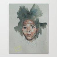 basquiat Canvas Prints featuring Basquiat by Danielle Lima