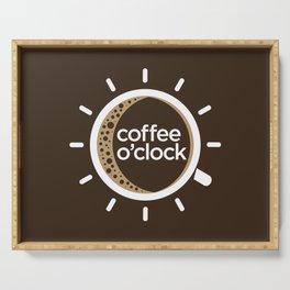 Coffee o'clock Serving Tray