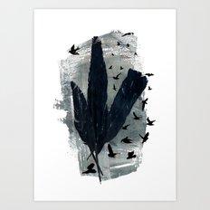 Mixed Feathers Art Print