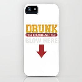 Beer Alcohol Tester Beverage Liquor Mead Gift Drunk Breathalyzer Test iPhone Case