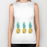 pineapples Biker Tanks featuring Pineapples by Yilan