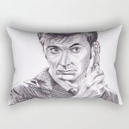 David Tennant as Doctor Who Rectangular Pillow
