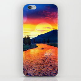 Sunset at Yellowstone iPhone Skin