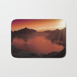 Sunset coucher de soleil Bath Mat