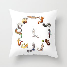 Rat Dragon Army: Batch 2 Throw Pillow