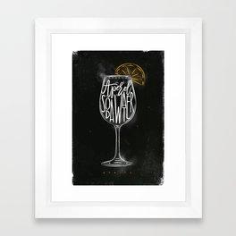 Spritz cocktail chalk color Framed Art Print