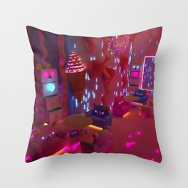 Lets's Go To The Coffee Shop Throw Pillow