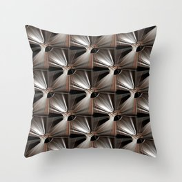 Metal Armour Screen Pattern Throw Pillow