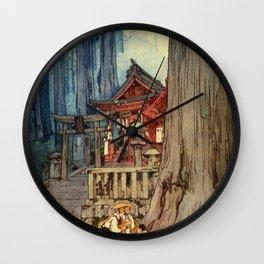 Yoshida Hiroshi - A Misty Day In Nikko - Digital Remastered Edition Wall Clock